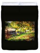 Autumn Fence Duvet Cover