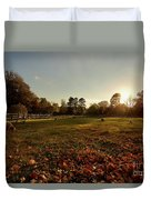 Autumn Field With Sheep Duvet Cover