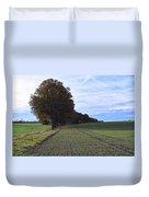 Autumn Fields, Syke, Germany Duvet Cover
