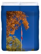 Autumn Flag Duvet Cover