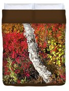 Autumn Foliage In Finland Duvet Cover