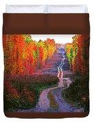 Autumn Forest Track Duvet Cover