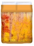 Autumn Forest Wbirch Trees Canada Duvet Cover