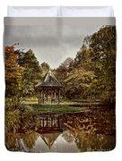 Autumn Gazebo Reflection Duvet Cover