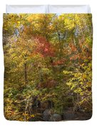 Autumn Glory - Unami Creek Sumneytown Pennsylvania Usa Duvet Cover