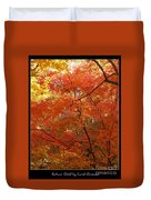 Autumn Gold Poster Duvet Cover