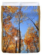 Autumn Gold Sunburst Duvet Cover