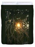 Autumn Grasses In The Morning Duvet Cover
