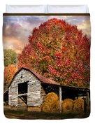 Autumn Hay Barn Duvet Cover