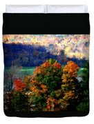 Autumn Hedgerow Duvet Cover