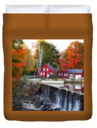 Autumn House At The Falls Duvet Cover