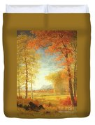 Autumn In America Duvet Cover