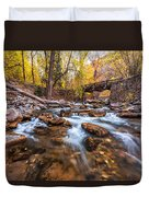 Autumn In American Fork Canyon Duvet Cover