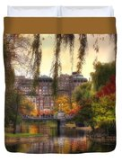 Autumn In Boston Garden Duvet Cover