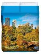 Autumn In Central Park 2 Duvet Cover