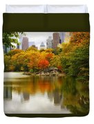 Autumn In Central Park Duvet Cover