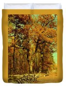 Autumn In Forest Duvet Cover