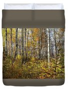 Autumn In The Birches Forest Duvet Cover