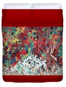 Autumn In Mt. Bascobert National Forest Duvet Cover