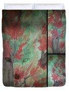 Autumn In My Soul Triptych Duvet Cover