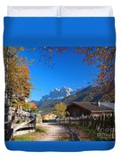 Autumn In South Tyrol Duvet Cover
