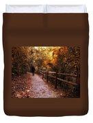 Autumn In Stride Duvet Cover