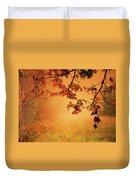 Autumn In The Fog. Duvet Cover