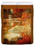 Autumn In The Gardens Duvet Cover