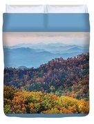Autumn In The Great Smoky Mountains Duvet Cover