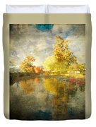 Autumn In The Pond Duvet Cover