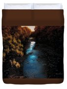 Autumn In The Tributary Duvet Cover
