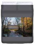 Autumn In Valley Forge - Knox Covered Bridge Duvet Cover