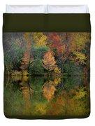 Autumn Lagoon Reflection  Duvet Cover