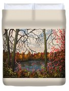 Autumn Lake View Duvet Cover