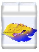 Autumn Leaf Abstract Duvet Cover