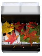 Autumn Leaves - A Love Song Duvet Cover
