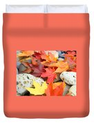 Autumn Leaves Art Print Coastal Fossil Rocks Baslee Troutman Duvet Cover