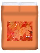 Autumn Leaves Art Prints Orange Fall Leaves Baslee Troutman Duvet Cover