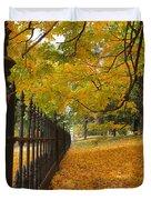 Autumn Leaves At Lafayette Park Duvet Cover