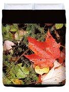 Autumn Leaves Duvet Cover by Larry Ricker