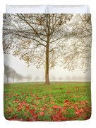 Autumn Leaves Near To Far Super High Resolution Duvet Cover