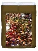 Autumn Leaves Reflections Duvet Cover