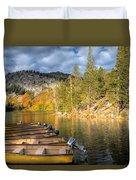 Autumn Light At The Lake Duvet Cover