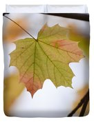 Autumn Maple Leaf Vertical Duvet Cover