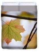 Autumn Maple Leaves Horizontal Duvet Cover
