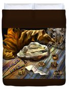 Autumn Memoirs-squirrels In The Attic Duvet Cover