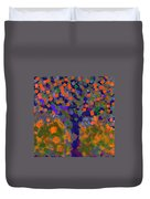 Autumn Message Tree Duvet Cover