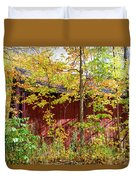Autumn Michigan Barn  Duvet Cover