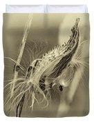 Autumn Milkweed 7 - Sepia Duvet Cover