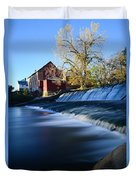 Autumn Mill Portrait Duvet Cover